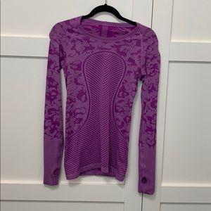 Purple camo long sleeve
